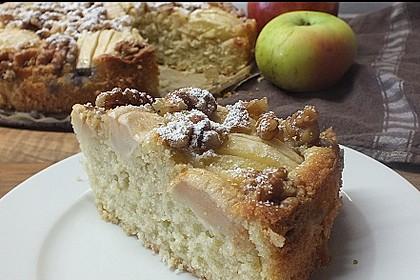 Apfelkuchen mit Walnuss - Kruste 2
