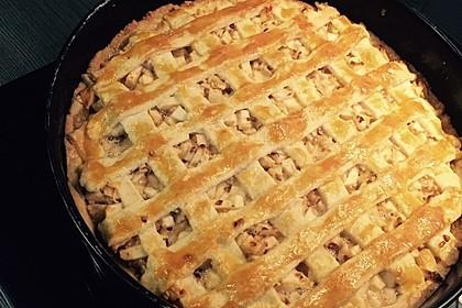 Apfelkuchen mit Walnuss - Kruste 18