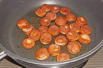Griechische Zucchinipfanne mit  Bratwurst 18