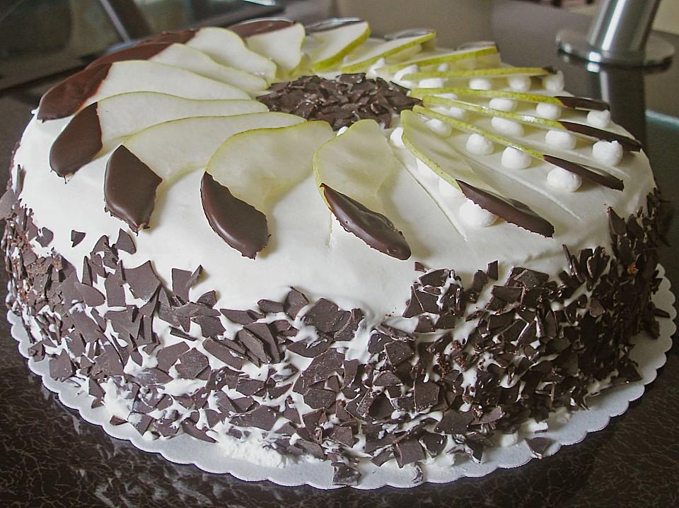 Birne Schokoladen Torte Von Angela05 Chefkoch De