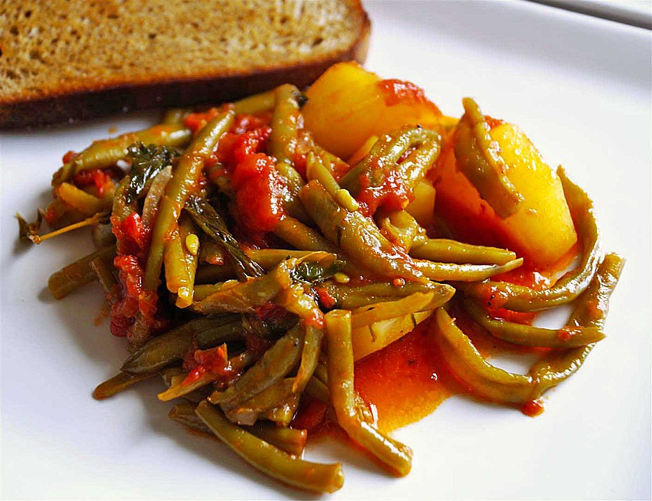 Griechische Bohnen mit Kartoffeln und Tomaten von Mimaki | Chefkoch