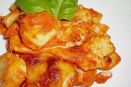Gnocchi mit Mozarella überbacken