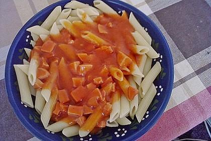 Makkaroni mit Tomatensoße nach Ossi - Art 2