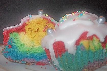 Regenbogenmuffins (Bild)