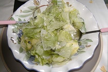 Eisbergsalat mit süß - saurem Zitronendressing 7