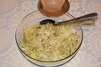 Eisbergsalat mit süß - saurem Zitronendressing 8