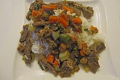 Rindfleisch würzig - pikant mit Gemüse nach Peng Art 1