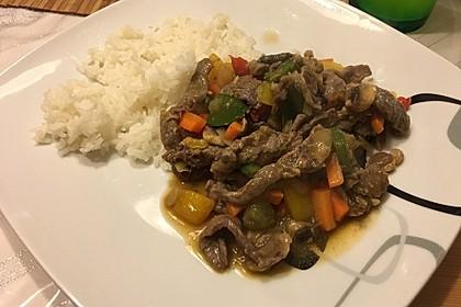 Rindfleisch würzig - pikant mit Gemüse nach Peng Art