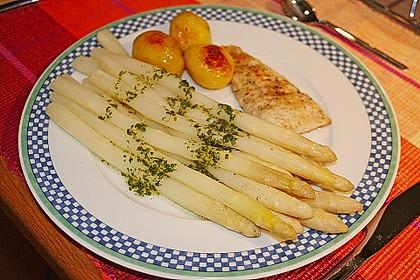 feuervogels Zanderfilet mit Spargel und Zitronen - Vinaigrette