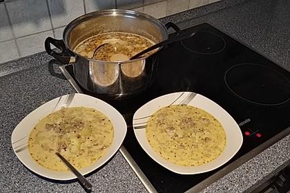 Gurken-Rahm-Suppe mit Hackfleisch und Kartoffeln 4