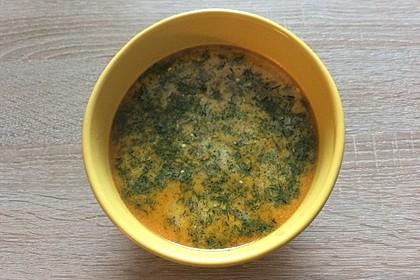 Gurken-Rahm-Suppe mit Hackfleisch und Kartoffeln 7
