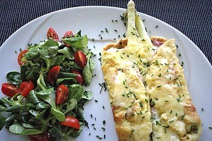 Spargel - Schinken - Käse - Pfannkuchen (Bild)