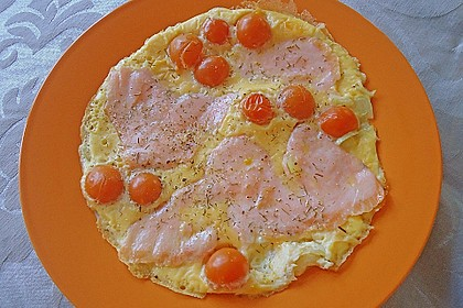 Omelett mit geräuchertem Lachs 25