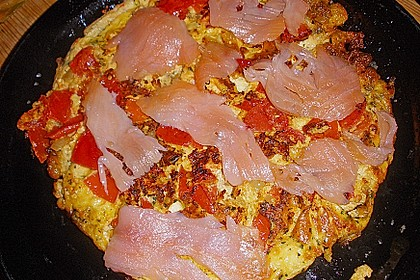 Omelett mit geräuchertem Lachs 35