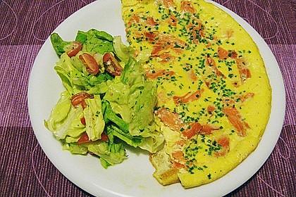 Omelett mit geräuchertem Lachs 11