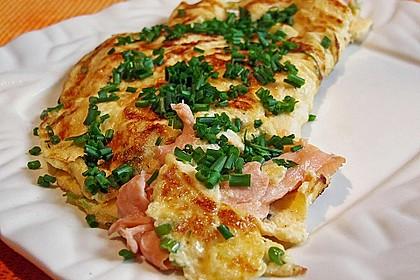 Omelett mit geräuchertem Lachs 1