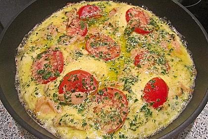 Omelett mit geräuchertem Lachs 19