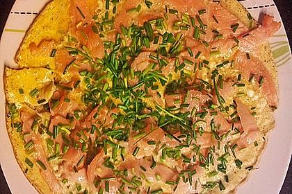 Omelett mit geräuchertem Lachs 14