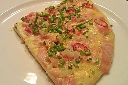 Omelett mit geräuchertem Lachs 2