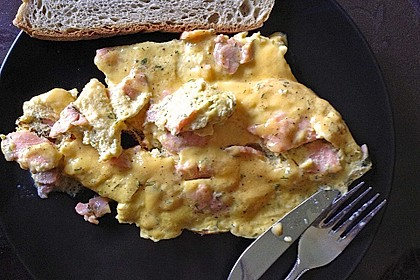 Omelett mit geräuchertem Lachs 21
