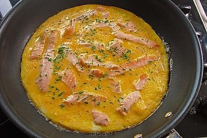 Omelett mit geräuchertem Lachs 17