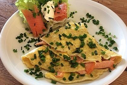 Omelett mit geräuchertem Lachs 8