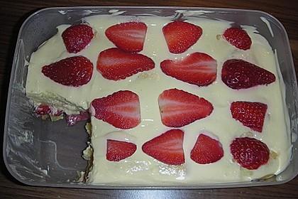 Erdbeertiramisu light mit Topfen - Joghurt - Creme 2