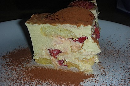 Erdbeertiramisu light mit Topfen - Joghurt - Creme