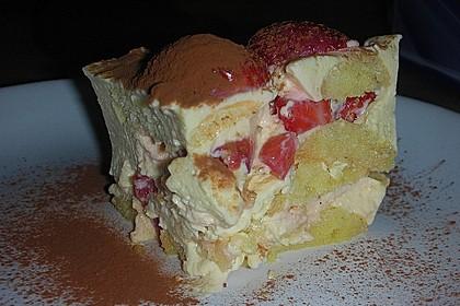 Erdbeertiramisu light mit Topfen - Joghurt - Creme 1