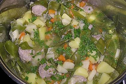 Kartoffelsuppe mit Fleischbällchen 1