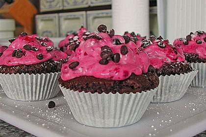 Schokoladencupcakes mit Himbeermascarpone 1