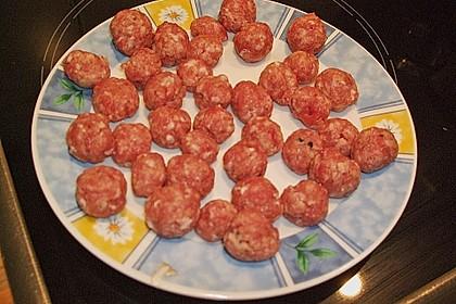 Tomatensuppe mit Fleischbällchen 1
