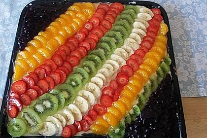 Bunter Obstblechkuchen