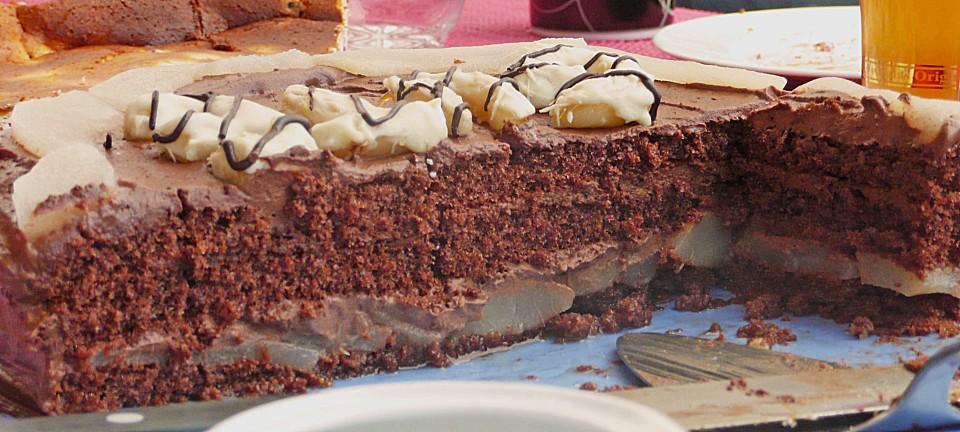 Birnen Schoko Torte Von Valle87 Chefkoch De