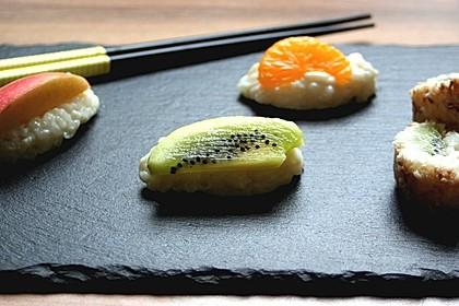 Sushi mal anders - süß als Dessert 9
