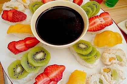 Sushi mal anders - süß als Dessert 3