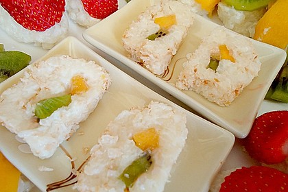 Sushi mal anders - süß als Dessert 13