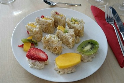 Sushi mal anders - süß als Dessert 12