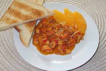 Flusskrebse in Orangenbutter - Sauce 7