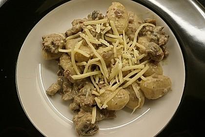 Gnocchi Champignon Pfanne 17