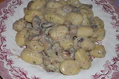 Gnocchi Champignon Pfanne 16