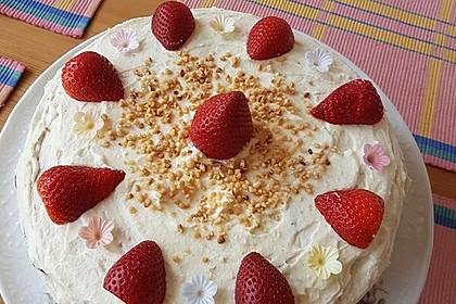 Erdbeer - Zitronen - Torte mit weißer Schokolade 7