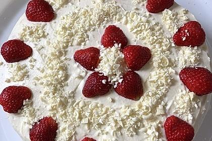 Erdbeer - Zitronen - Torte mit weißer Schokolade 5