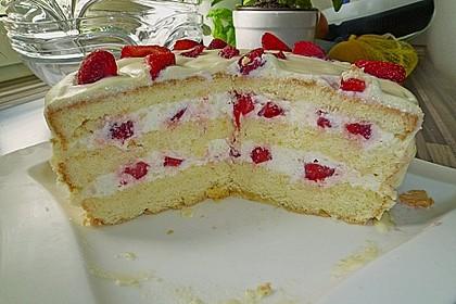 Erdbeer - Zitronen - Torte mit weißer Schokolade 3
