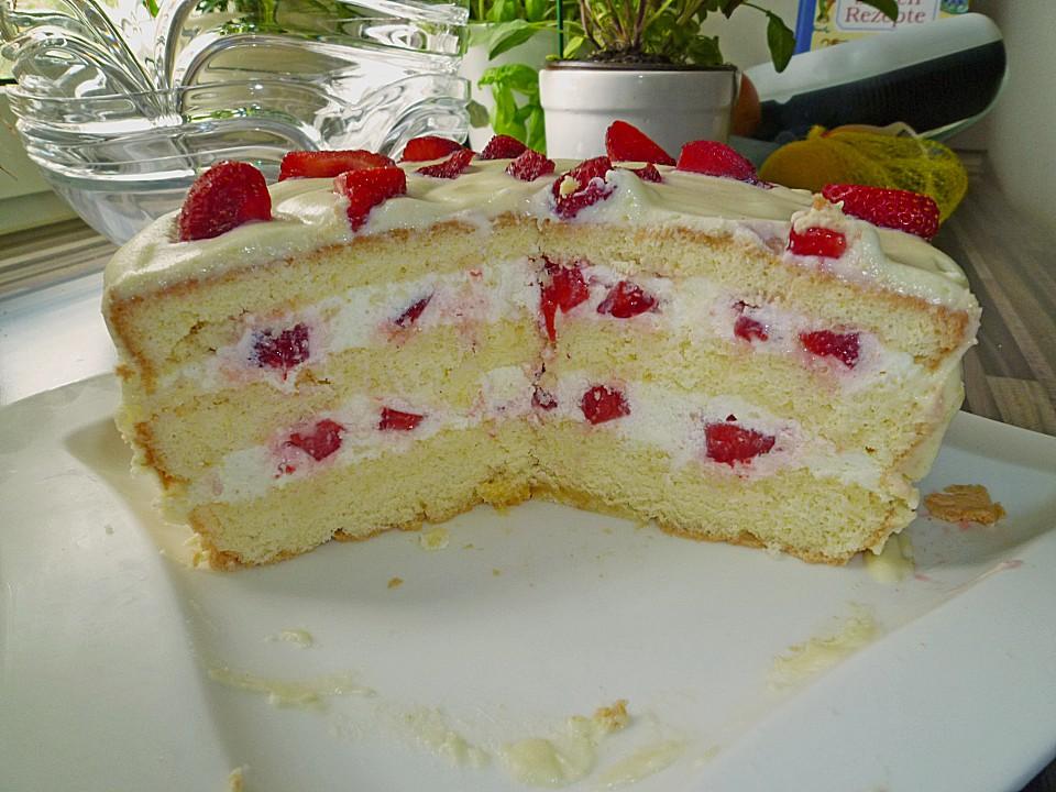 Erdbeer Zitronen Torte Mit Weisser Schokolade Von Moorrose