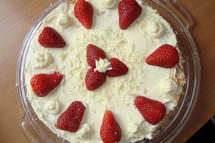 Erdbeer - Zitronen - Torte mit weißer Schokolade