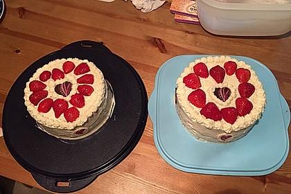 Erdbeer - Zitronen - Torte mit weißer Schokolade 2