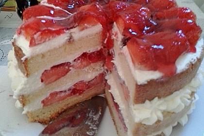 Erdbeer - Zitronen - Torte mit weißer Schokolade 6