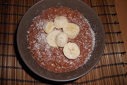 Schoko - Bananen - Kokos - Porridge (Bild)