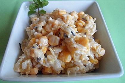 Curry - Reis - Salat mit Mais und Mango